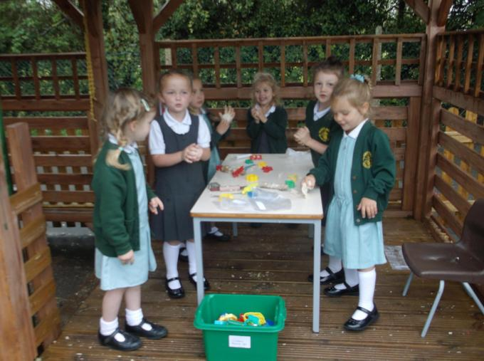 Salt dough in our Role play bakery