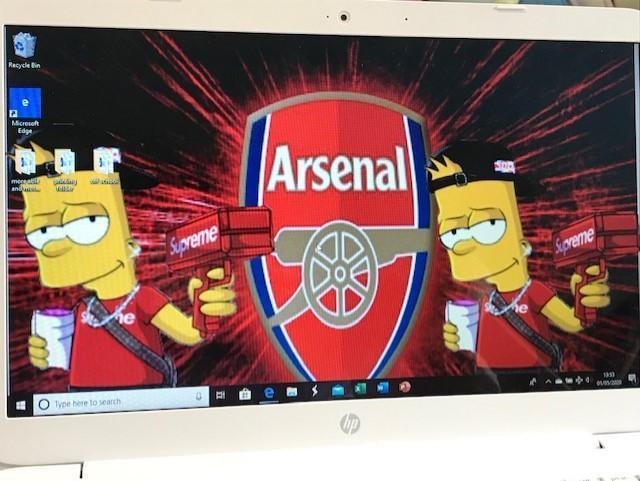 Lewis designed a background for his desktop