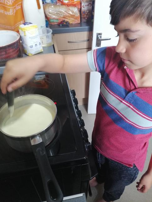 Zach making the best ice cream that every existed!