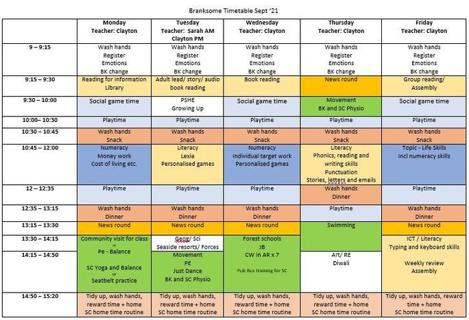We regularly review our timetable to make sure it is meeting everyone's needs.