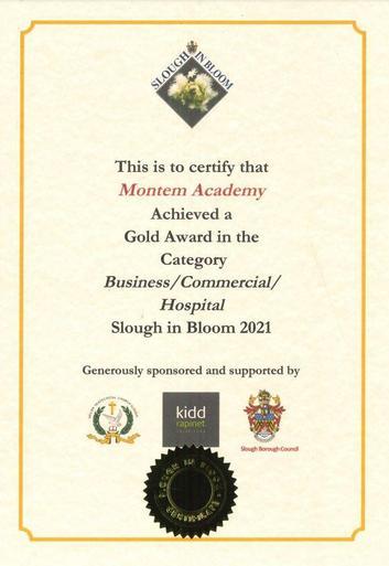 Slough in Bloom Gold Award 2021