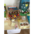 Look at the eggs we decorated!