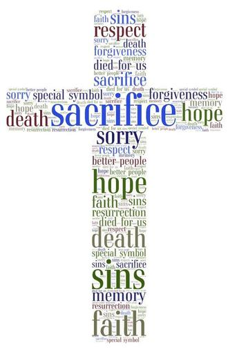 These is made up of what we think the cross means to Christians.