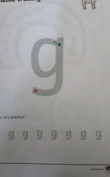 Nathan has been writing the sound 'g'.