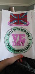 Kelsi coloured this superb VE Day medal.