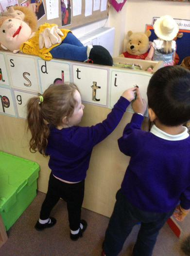 Nursery are practicing their sounds.