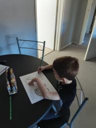 Nathan working hard.