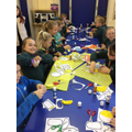 Cubs making their own Pudsey Bears!