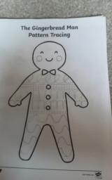 Nathan's gingerbread man.