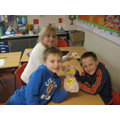 Year 3 making Pudsey biscuits! They were yummy!