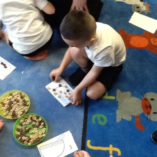 Reception are having fun counting accurately to 20