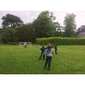 Having fun on the Dovedale House field.