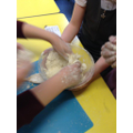 The Cooking enrichment club are busy making Scones