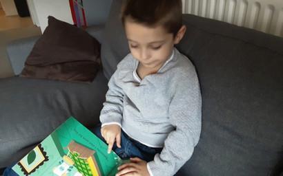 Nathan enjoying a good book.
