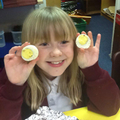 The boiled eggs are ready to eat. Yummy!