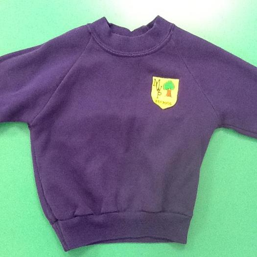 Purple Jumper with School Logo
