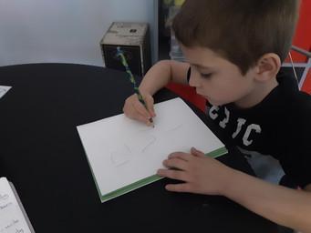 Nathan working hard at home.