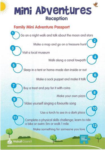 Mini Adventures for Reception Children