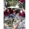 Den building, bug hunting and journey sticks.