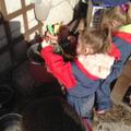 Making mud soup.