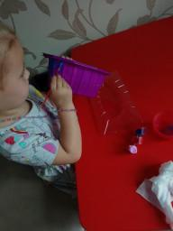 Isabelle is painting a unicorn garden.