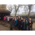 Waiting to go in the Houses of Parliament!