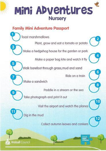 Mini Adventures for Nursery Children