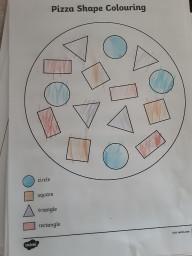 A shape pizza.