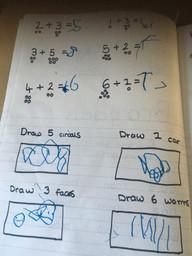 Brayden's maths work.