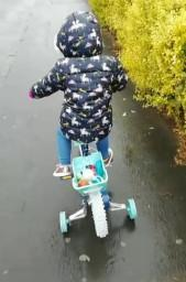 Isabelle enjoying her new bike.