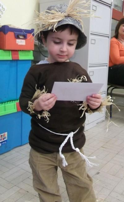 Nursery: Theo Astre as The Scarecrow