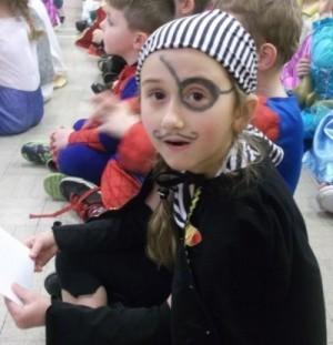 Yr 1: Milly Dolan as a Pirate