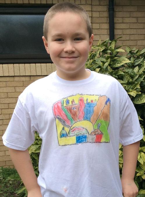 Kya in Year 5 made a wonderful t-shirt.