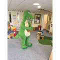 Mummy Dinosaur came to Nursery looking for her egg!