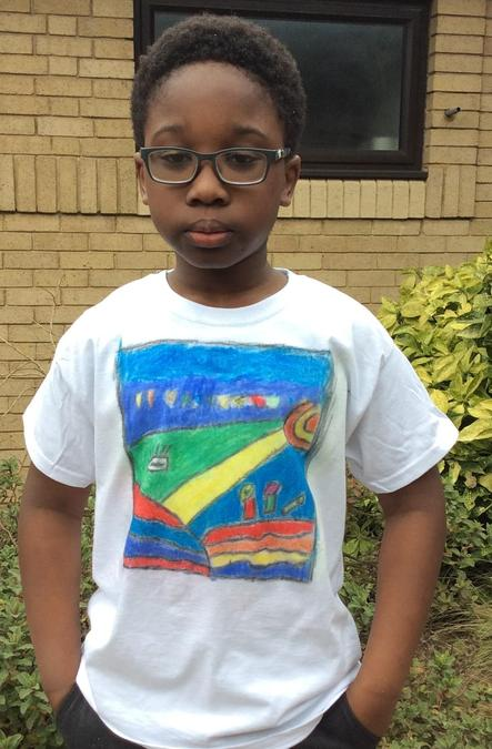 Quincy in Year 5 made a wonderful t-shirt.
