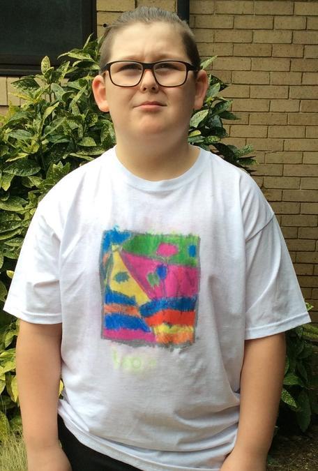 Leo in Year 5 made a wonderful t-shirt.