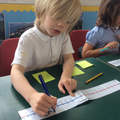 Jumping back along a number line