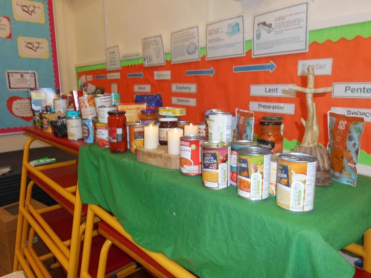 Here are our donations to the Food Bank