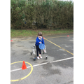 practising our ball skills