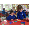 Using Numicon to supoprt our subtraction skills.