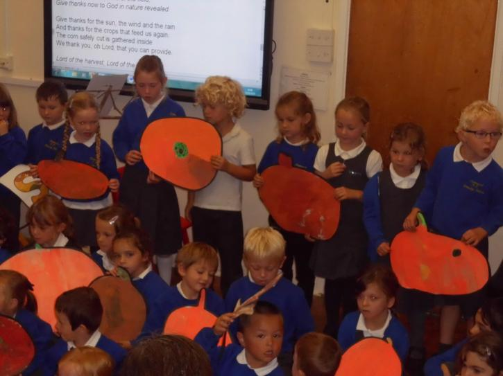 Class 1 told us about the school garden