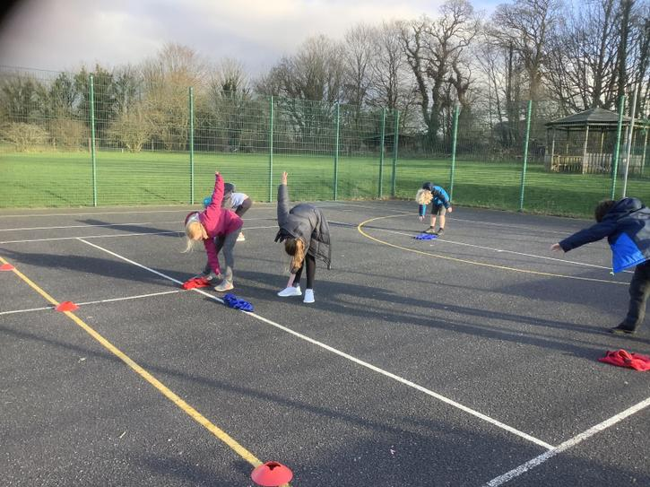 Outside circuit training with Mr Gibbs