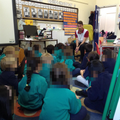 Sandy (Place2Be) delivering a session to Year 1