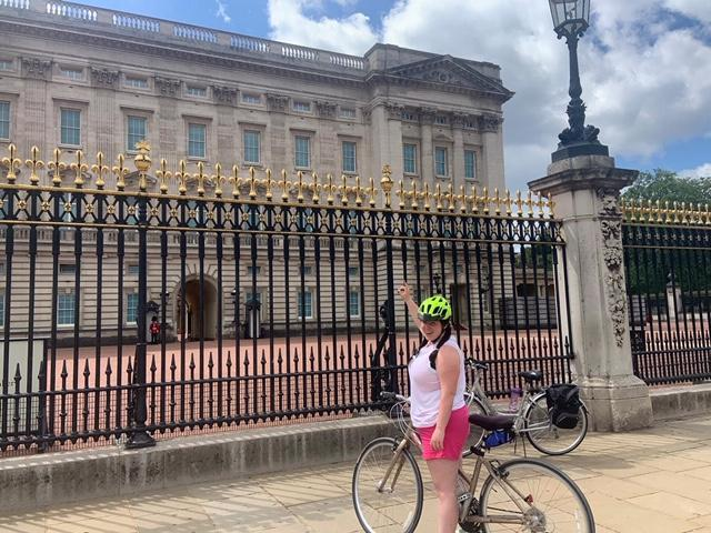 Miss Whittlestone cycling - where is she?