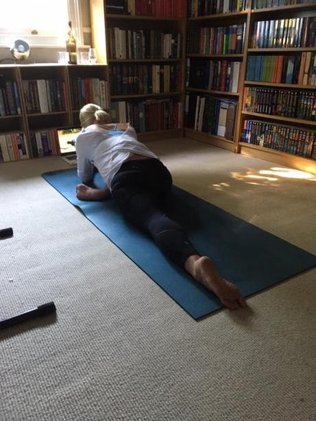 Ms Freezer yoga-ing, namaste!