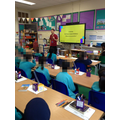Sandy (Place2Be) delivering a session to Year 5