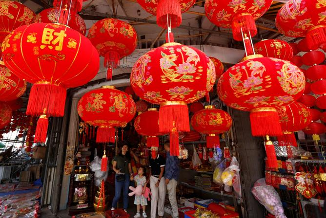 Red Lanterns for luck