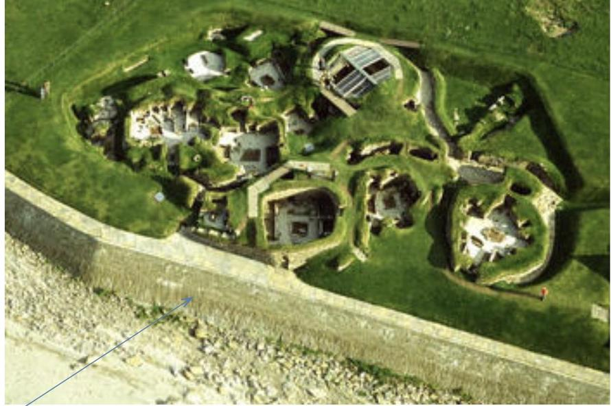 Ariel view of site