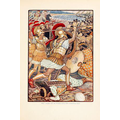 "They crashed into the Persian army with tremendous force"", illustration by Walter Crane in Mary Macgregor, The Story of Greece Told to Boys and Girls,"