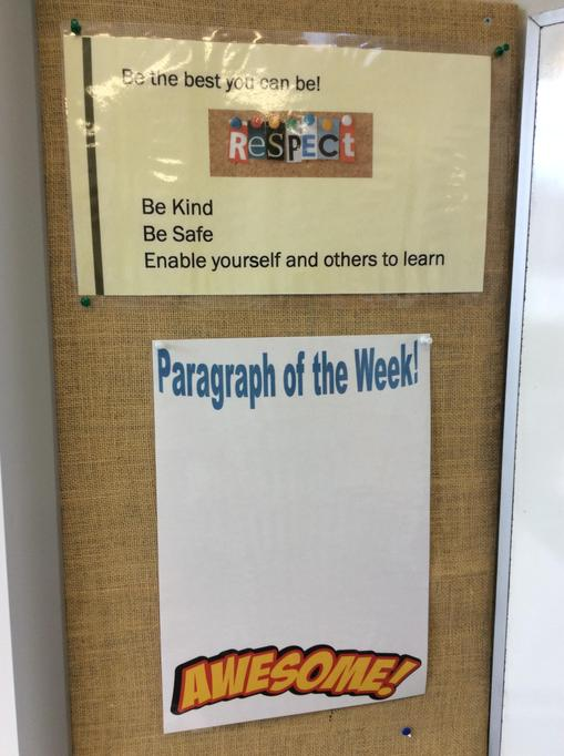 The new Paragraph of the week competition - more on that tomorrow!
